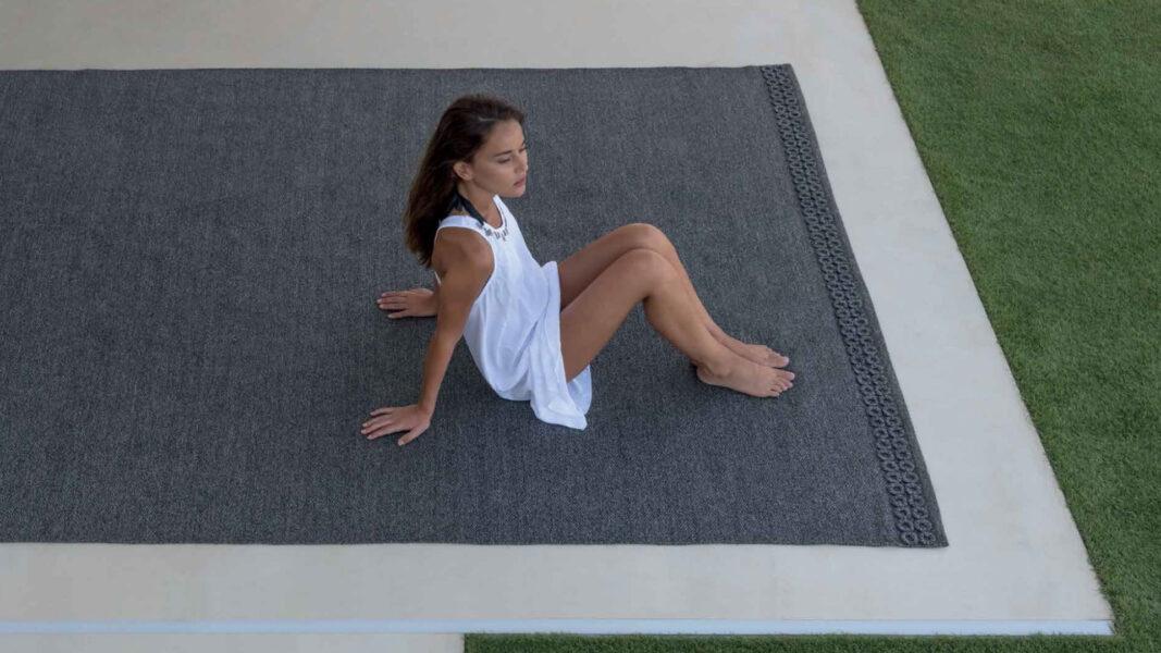 Accessoires Teppich Textilgewebe//Rippenoptik 2