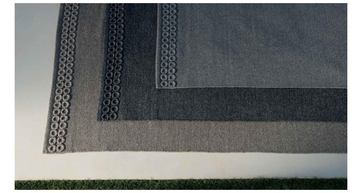Accessoires Teppich Textilgewebe//Rahmenoptik