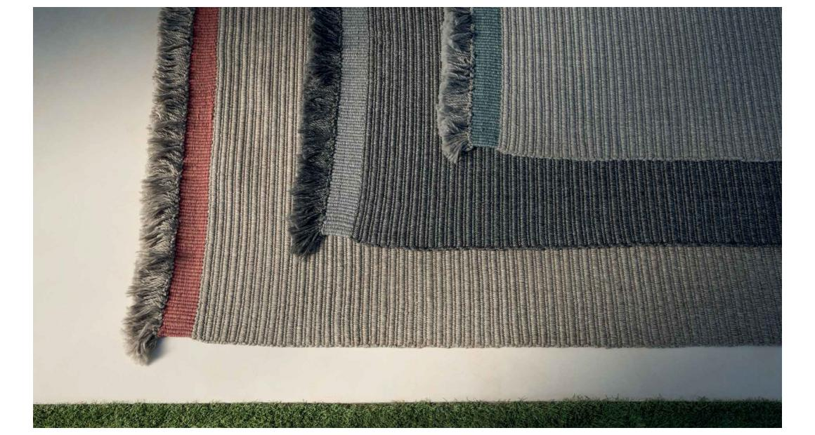 Accessoires Teppich Textilgewebe//Rippenoptik