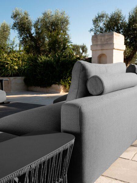 Cliff Dèco Sofa, Rückenlehne mit Textilbezug 0