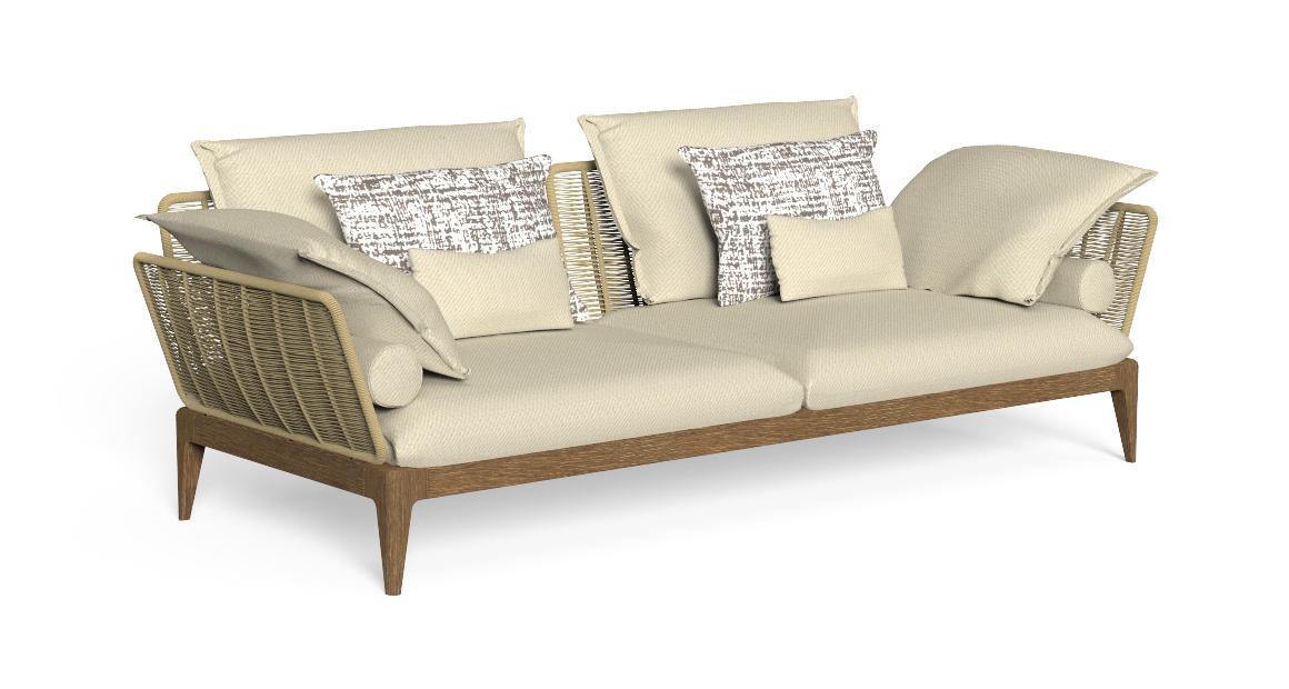 Cruise//Teak 3-Sitzer-Sofa
