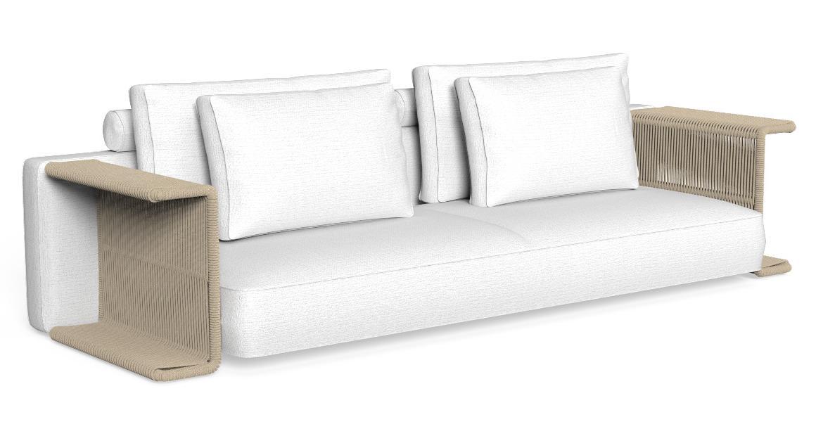 Cliff Dèco Sofa, Rückenlehne mit Textilbezug