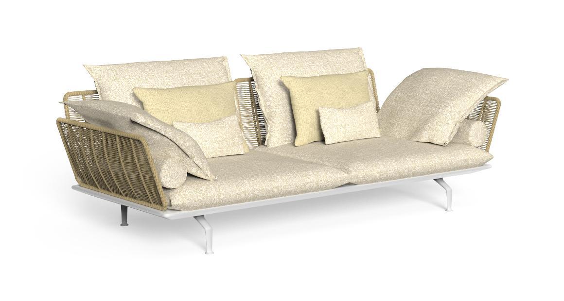 Cruise//alu 3-Sitzer-Sofa