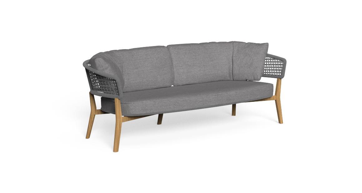 Moon//Teak 2-Sitzer-Sofa