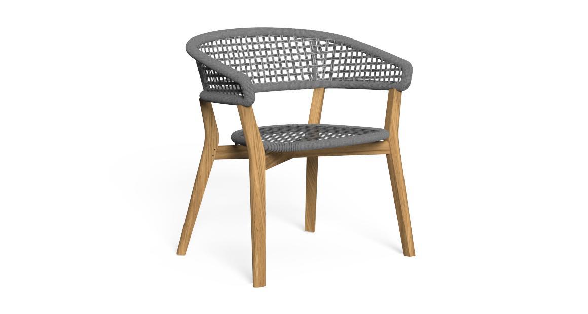 Moon//Teak Sessel für den Essbereich