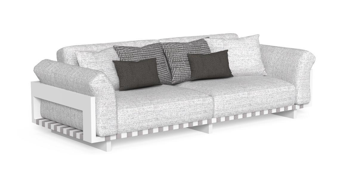 Argo//Alu 3 Sitzer Sofa