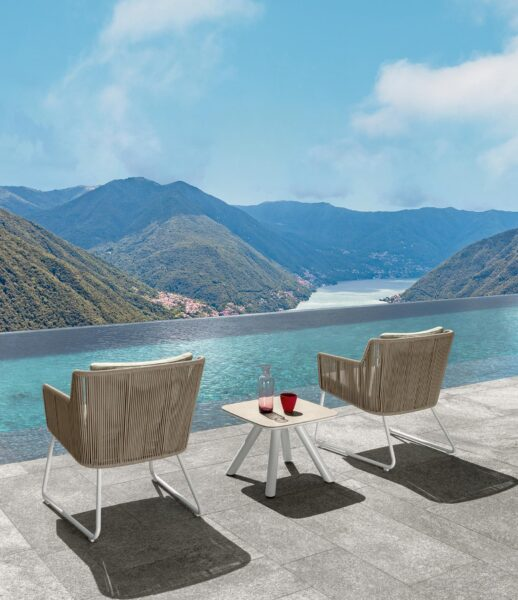Coral Loungesessel in Seil 1